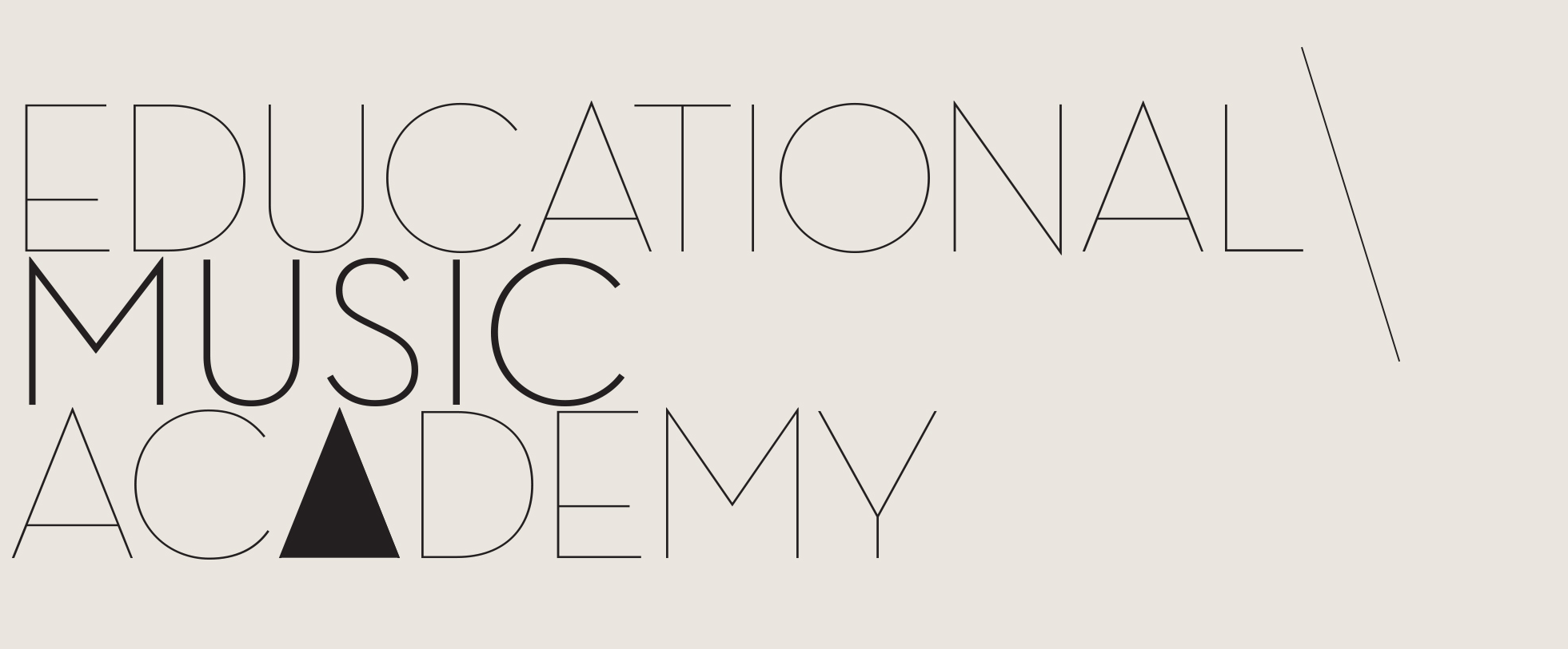 educational music academy logo
